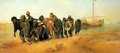 Volga-boatmen